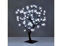 Decorative White LED Cherry Blossom Bonsai