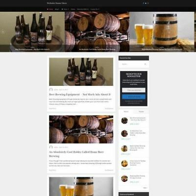 Home Brewing Store - Online Business Website For Sale - Make Money Domain