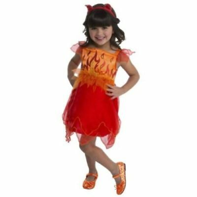 NEW Devil Girls Halloween Costume Toddler Size 2T or 3T/4T Dress Tail - Devil Girls Costume