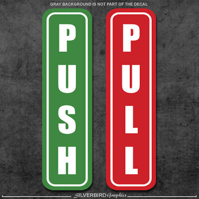 Push and Pull stickers decals / store / office / window / door / bar / vinyl 3M