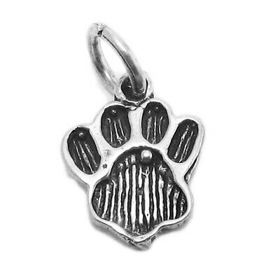 925 Sterling Silver Tiger Paw Print Charm 925 Sterling Silver Tiger