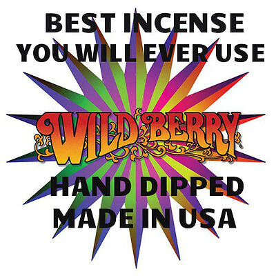 "30 Wild Berry Incense 11"" Stick's  Pick Any Scent Hand Dipped Made in USA"