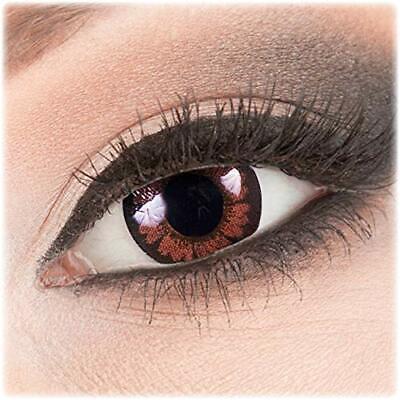 Farbige dunkelbraune braune Kontaktlinsen Pretty Hazel Mit Ohne Stärke farbig