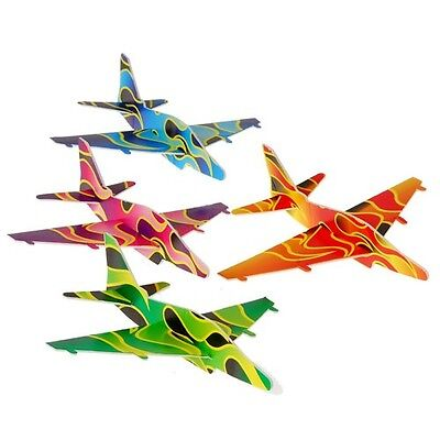 Styrofoam Glider Toy (12 Flame Styrofoam Gliders Air Plane Toy Fire Fighter Man Party Goody Bag Favor )