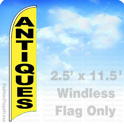 Antiques - Windless Swooper Flag 2.5x11.5 Feather Banner Sign - Yb