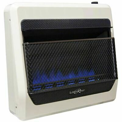 Blue Flame Natural Gas Heater - Lost River Natural Gas Ventless Blue Flame Gas Space Heater - 30,000 BTU