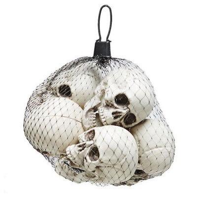 Halloween Schädel Totenkopf Skelett 13cm Deko 6er Grusel 365