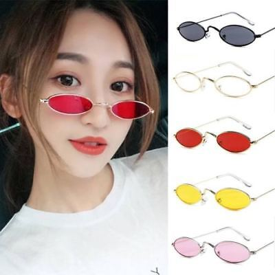Women Men Vintage Sunglasses Retro Small Oval Metal Frame Eyewear Glasses