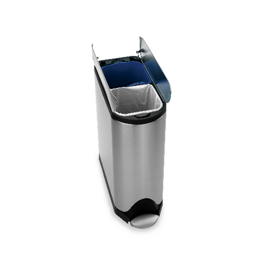 Simplehuman 40L Butterfly Stainless Steel Recycler