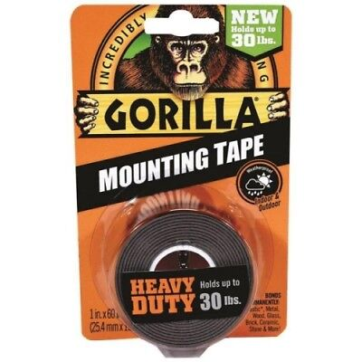 Gorilla 6055001-6 Double-sided Heavy Duty Mounting Tape 1 X 60 Blac