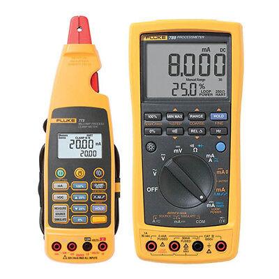 Fluke 789773 Bu Processmeter Hart Milliamp Process Clamp Meter Kit