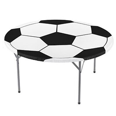 SOCCER ROUND PLASTIC TABLE COVER ~ Sports Birthday Party Supplies Decorations