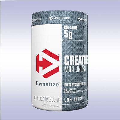 DYMATIZE CREATINE MICRONIZED (300 GRAMS) unflavored monohydrate iso 100