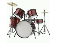Red Stagg Adult Drum Kit
