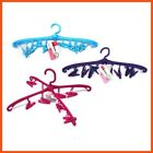 Traditional Hanger With Clips Plastic Hanger Clothes Hangers