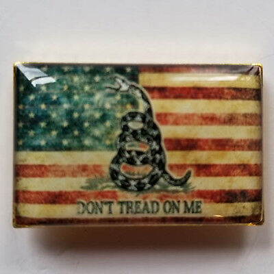 USA Distressed Flag Gadsden Dont Tread On Me Lapel Hat Pin Tie Tac FAST USA SHIP