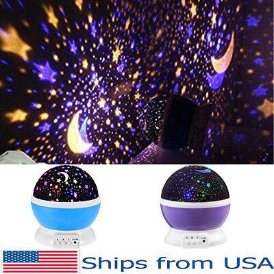 Projector Night Light LED Star Master Sky Lamp Romantic Cosmos Rotating Gift