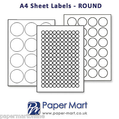Round Oval Labels On A4 Sheets - Labels Stickers For Laser Inkjet Printers