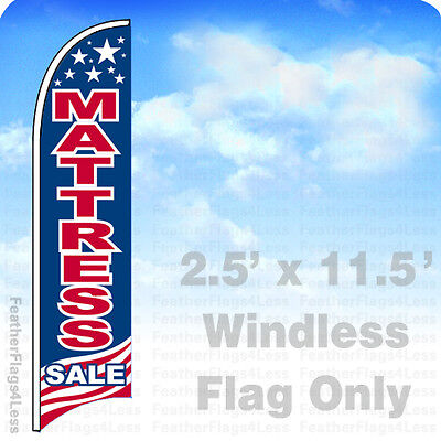 MATTRESS SALE USA - WINDLESS Swooper Flag 2.5x11.5 Feather Banner Sign - bb