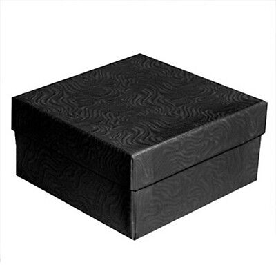 100 Black Swirl Cotton Filled Jewelry Packaging Gift Boxes 3 1/2
