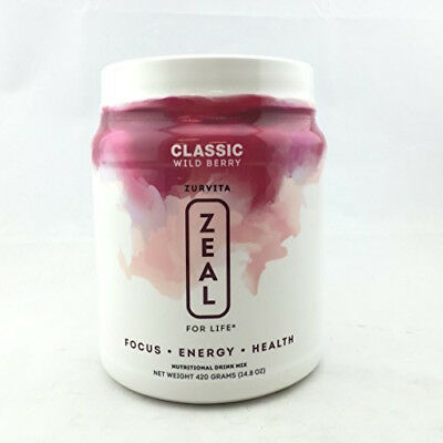 Zurvita ZEAL FOR LIFE 30 Day Supply CLASSIC Wild Berry ( Free Shipping)