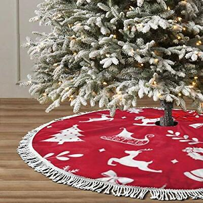 Christmas Decorate Background Pattern Christmas Tree Skirt Decoration 48 Inch...