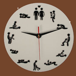 Large Quite Wall Clock Big Watch Decor 3D Stickers DIY Home Sex Bedroom Art Wall