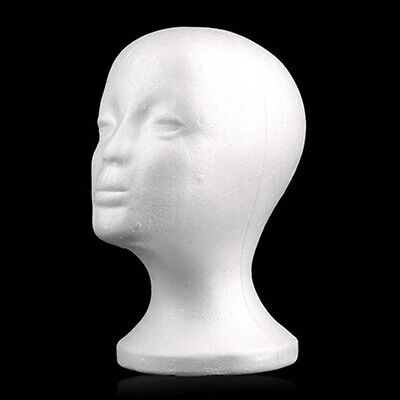 Foam Mannequin Female Head Model Dummy Wig Glasses Hat Display Stand Model White