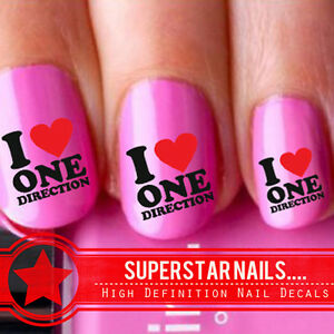 20x-I-Love-One-Direction-1D-Nail-Art-Decals-Wraps-Stickers-Water-Transfers-102