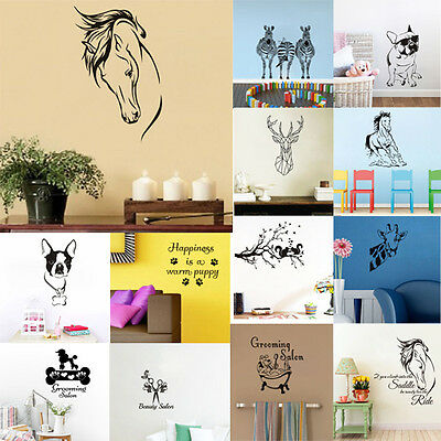 Wall Sticker Horse Jungle Animal Grooming Room Vinyl Decal Removable Home Decor