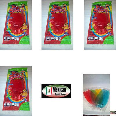 5X10 Slaps Cachepigui  Cachetadas  Tropical Fruit Lollipop Mexican Candy 50Pc