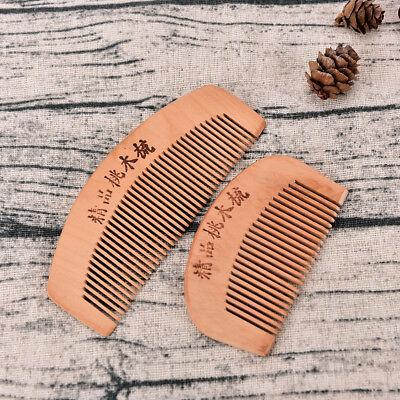 Wood Comb Beard Comb Fine Tooth Comb Massage Hair Mustache CombVV - $5.22