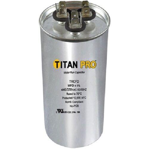 Titan Pro TRCFD605 60+5 MFD 440/370 Volt Round Run Capacitor