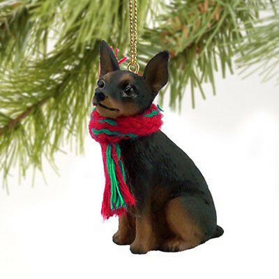 MINIATURE PINSCHER MIN PIN (BLACK TAN) DOG CHRISTMAS ORNAMENT HOLIDAY XMAS