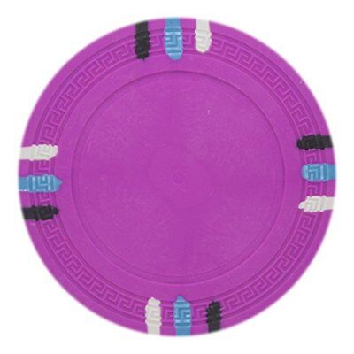 - 12 Stripe Non-Denominated 13.5g Poker Chips, Pink Clay Composite, 50-pack
