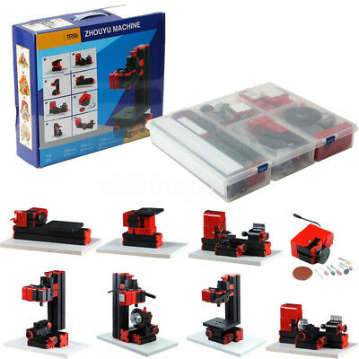 Diy Wood 8 In 1 Mini Multipurpose Basic Machine Kit Model Making Woodworking Us