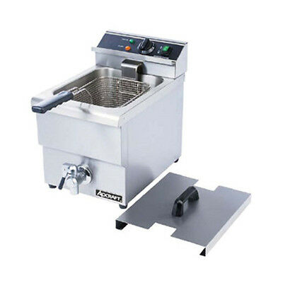 Adcraft Df-12l Single Electric Countertop Deep Fryer With Faucet