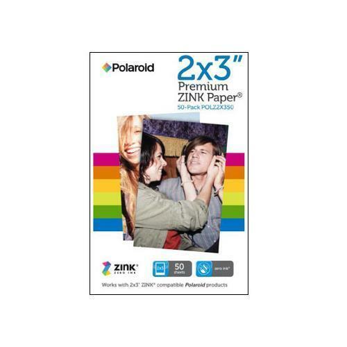 Polaroid 2x3 inch Premium ZINK Photo Paper QUINTUPLE PACK (50 Sheets) - Compatib