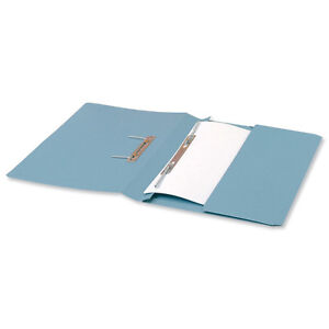 25 TRANSFER SPRING POCKET FILES A4/FOOLSCAP STRONG HEAVY WEIGHT BLUE 423954 | eBay