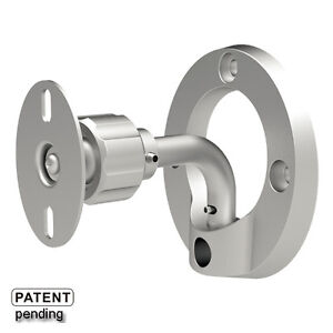 2-X-SILVER-SURROUND-SOUND-SPEAKER-WALL-BRACKET-MOUNT-LOW-PROFILE-SB31