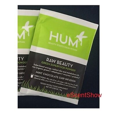 Hum Raw Beauty Green Superfood Powder Mint Chocolate Chip Infusion  28 Oz   8 G