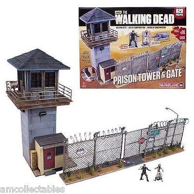 McFARLANE AMC THE WALKING DEAD BUILDING SET - PRISON TOWER & GATE - NEU/OVP