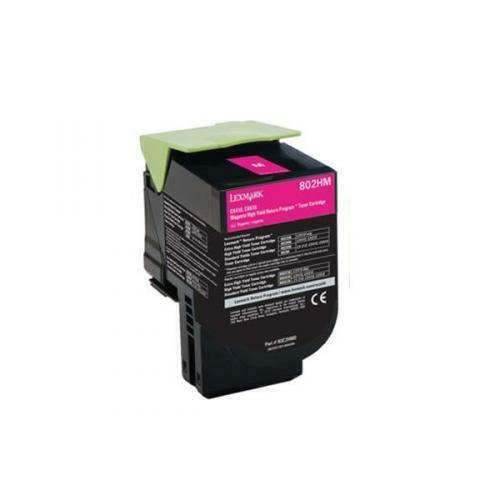 Lexmark 802HM Magenta High Capacity Toner Cartridge