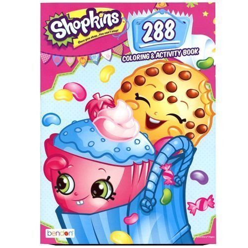 licensed moose shopkins collectible activity book 288 pages coloring - Coloring And Activity Book
