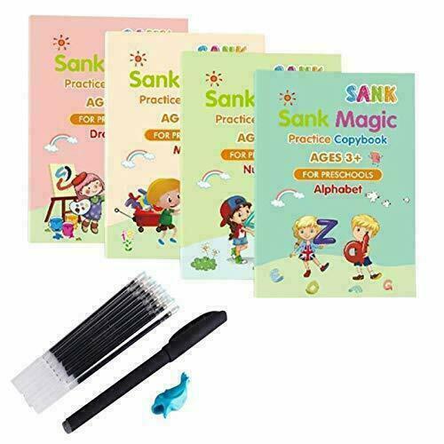 Sank Magic Practice Copybook Number Book Writin Preschooler Pen Age 3-5 Reusable