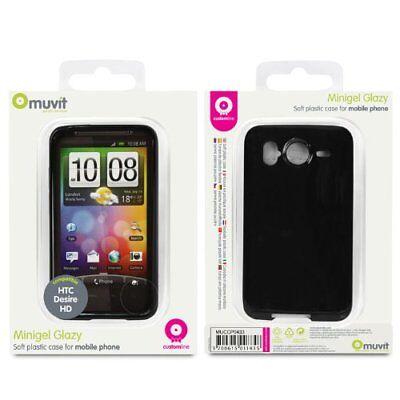 Muvit Funda Minigel Noire Brillo Compatible HTC Desire HD