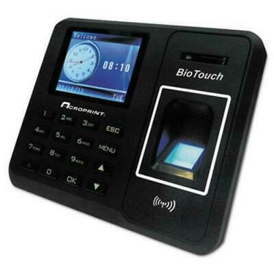 Acroprint Biotouch 010276000 Biometric Time Card Recorder Clock Punch In Device