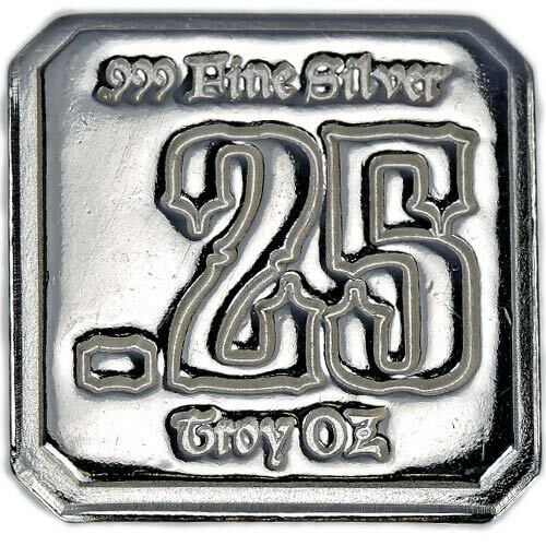 1/4 Troy Ounce (oz) .999 Fine Silver - Suns of Liberty Mint (SOLM) - Hand Poured