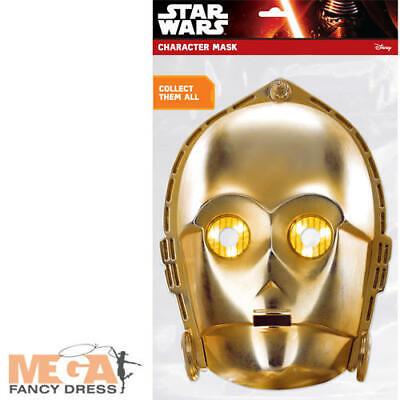 C-3PO Classic Card Mask Fancy Dress Star Wars Robot Adult Kids Costume Accessory - Child C3po Costume