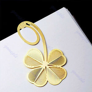 New-Four-leaf-Clover-Reading-Metal-Clip-Bookmark-Gift-Book-Mark-For-Kids